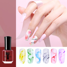NEE JOLIE 7.5ml Blossom Nail Polish Red Clear Watercolor Bloom-ing Effect Flower Ink Art Varnish DIY Decoration 12 Colors