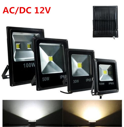 DC 12 V 20 W 50 pcs, 50 W 30 pièces LED lampe de lumière d'inondation chaude/froide blanche rvb extérieure LED étanche projecteur réverbère