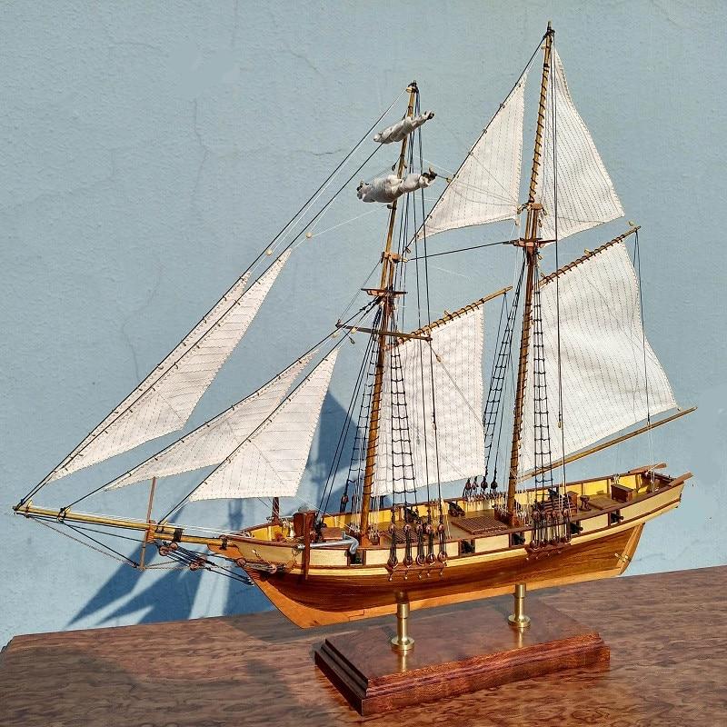 Scale 1 96 HARVEY 1847 wooden Ship kits Upgrade