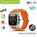 Sw16 torntisc android 4.4 3g smart watch mtk6572 1.54 polegada toque suporte de tela de monitor de freqüência cardíaca tf cartão micro sim gps wi-fi