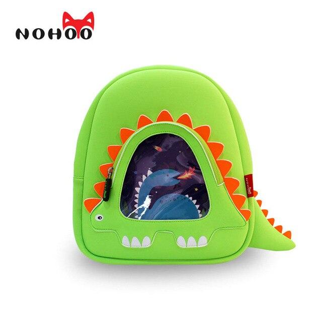 NOHOO Dinosaur Children WaterProof School Backpack for Kids Cartoon Small Backpack Kids Boys Orthopedic School Bag
