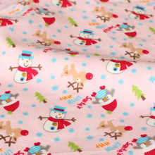 105x50cm1pc flannel fabric 100cotton flannel fabric christmas snowman printed flannel fabric sewing material diy