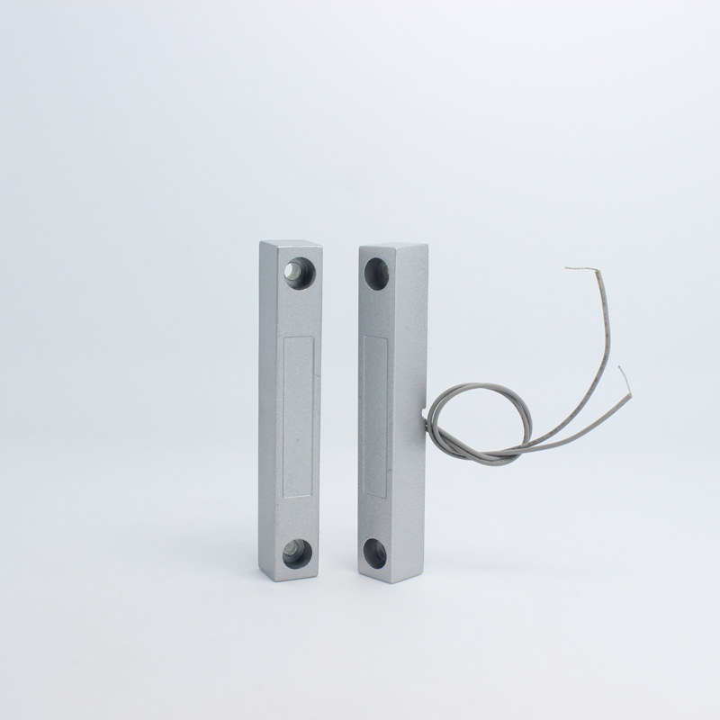 1 PCS Wired magnetic Door sensor alarm NC signal Alarm security steel material Fire control door