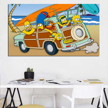 Cartoon TV Family Vacation Motivational Minimalist Art Canvas Poster Painting Oil Wall Picture Print Home Bedroom Decoration