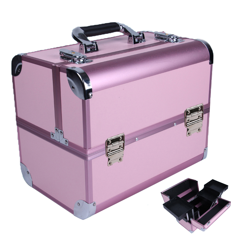 Portable cosmetic bag suitcases makeup beauty professional multi function cosmetology tattoo eyebrow teacher manicure case 20pcs lot ka331 dip 8