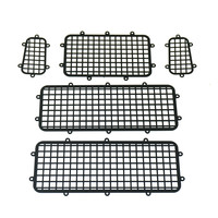 1Set High ended Metal Window Mesh Protective Net for 1/10 RC Crawler Car Traxxas Trx 4 Upgrade Parts Black