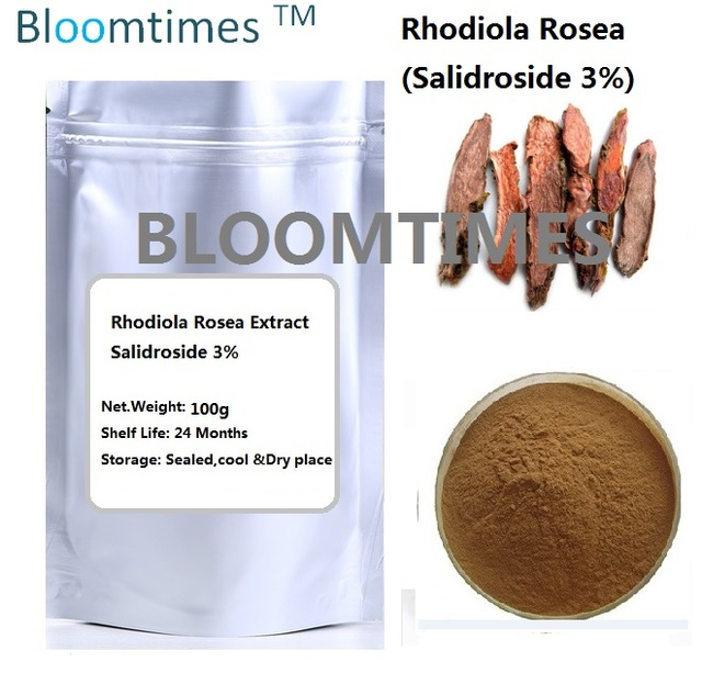 Natural Rhodiola Rosea extract Salidroside 3% 100g/250g Bloomtimes