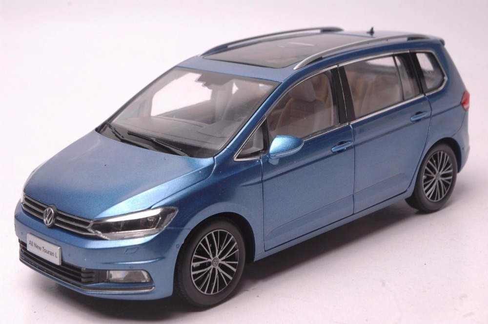 1:18 Diecast Model for Volkswagen VW All New Touran L 2016 Blue MPV Alloy Toy Car Miniature Collection Gifts масштаб 1 18 vw volkswagen new cross polo 2012 diecast модель автомобиля оранжевый