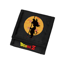 Zshop Boys Children Gifts Wallets Dragon Ball Wallet Short Black Purse Carteria