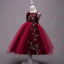 new baby girl summer clothes Embroidery Sleeveless Gauze princess dress Wedding presiding Stage performance tutu