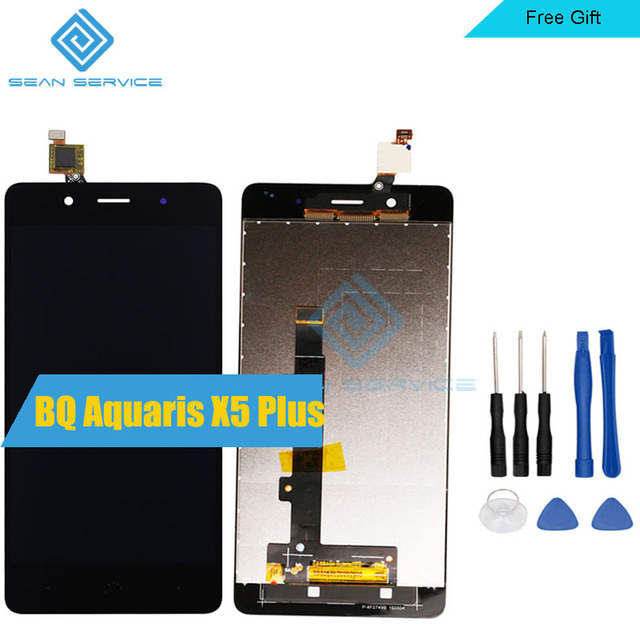 "For BQ Aquaris X5 Plus LCD in Mobile phone LCD Display+Touch Screen Digitizer Assembly  X5 Plus  5.0"" 100% Test 1920x1080P"