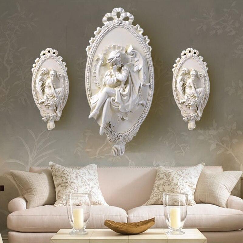 Modern Home Decor Figurine Angel Statue Big Size Wall Decoration Accessories Sculpture 51x25x3cm Ornament Wedding Decorations