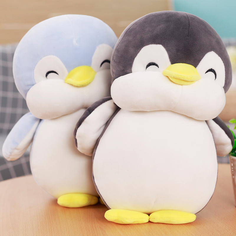 1pcs 60CM Stuffed Feather cotton Plush toys penguin doll Cute Christmas. Birthday.Festivalbest gift super soft Doll Toy 1pcs 22cm fluffy plush toys white eyebrows cute dog doll sucker pendant super soft dogs plush toy boy girl children gift