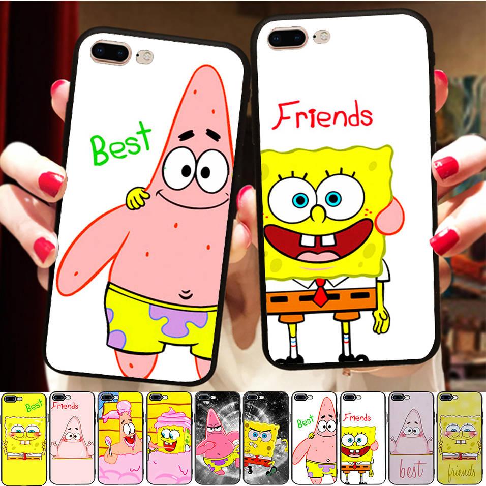 Funny Soft Silicone Case Cover For Samsung a5 j5 2017 a8 2018 Best Friend SpongeBob And Patrick BFF Capinha de Celular