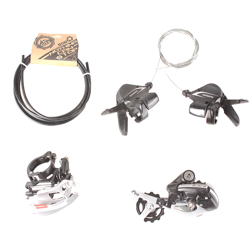 SHIMANO ACERA M360 3x8S 24S Speed MTB Bicycle Groupset Kit 4 Parts with Shifter Lever & Front and Rear Derailleur & Cable запчасть shimano шифтер acera m360 левый 3 скорости