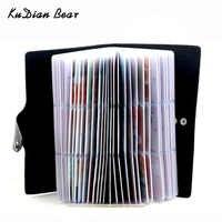 KUDIAN BEAR 120 cartes portefeuille Porte-cartes de visite Carte de crédit couverture sacs voyage Carte organisateur sacs Porte Carte BIH071 PM49