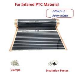 Новый тип 220 Вт/м2 Far Infared PTC материал теплый коврик с зажимами теплоизоляционные пасты энергосберегающие