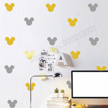 Mickey Mouse Head Pattern Kidsroom Wall Decoration Vinyl Art Removeable waterproof Wall Sticker Ornament Decals Mural LY994 sweet bird cage pattern removeable waterproof decorative wall sticker