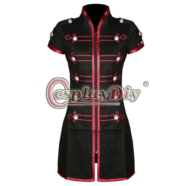 My Chemical Romance Mini Dress Emo Black Red Military Parade Dress