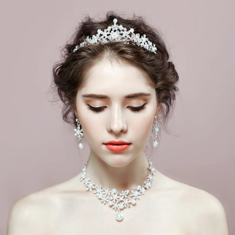 bridal tiara ladies wedding jewelry set rhinestone women