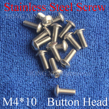 15pcs M4 Metric Thread 304 stainless steel Hexagon Socket Button Head Cap Screw Bolts Round Head M4*10mm screw nut 2pcs m4 200mm m4 200mm thread length 16mm 304 stainless steel dual head screw rod double end screw hanger blot stud