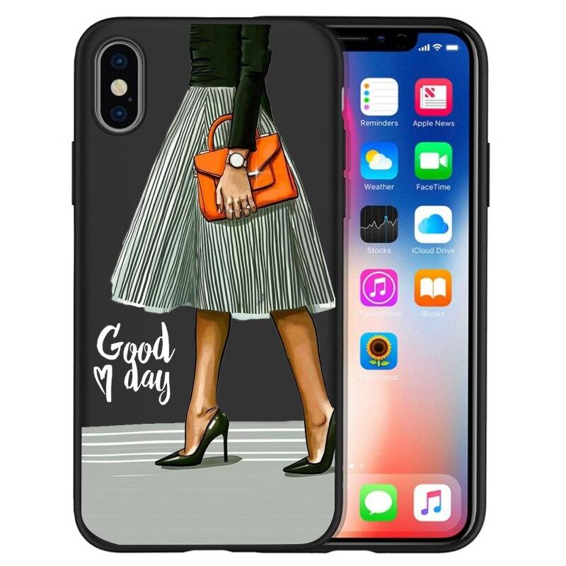 Модный Роскошный чехол для телефона на высоком каблуке с цветочным узором для девочек, чехол для iphone X XS Max XR 6 7 8 Plus 5S SE, мягкий чехол Etui - Цвет: 15