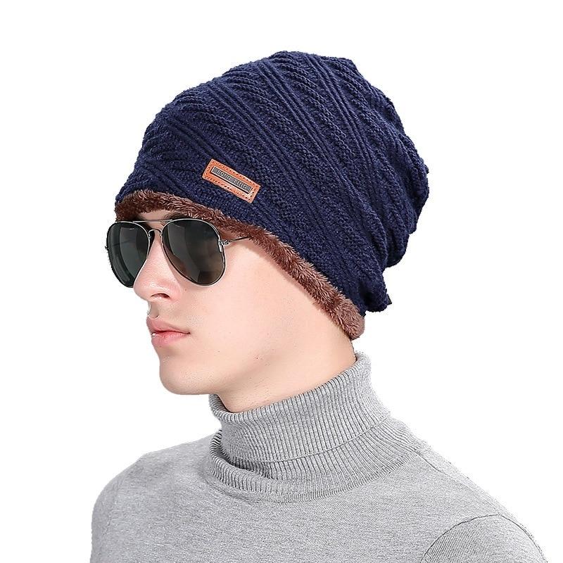Brand Hot Beanies Knit Men's Winter Hat Caps Skullies Bonnet Winter Hats For Men Women Beanie Fur Warm Baggy Wool Knitted Hat 2017 winter women beanie skullies men hiphop hats knitted hat baggy crochet cap bonnets femme en laine homme gorros de lana
