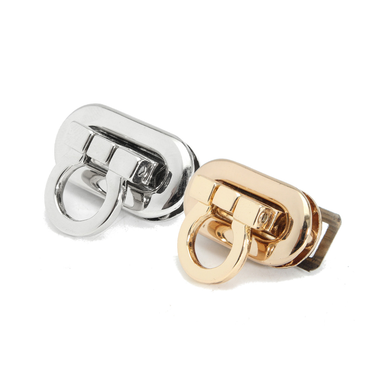 AEQUEEN 3pcs Alloy Buckle Twist Turn Lock Snap Clasps Closure DIY Purse Women Bag Accessory Part Handbag Bag Button Silver Gold