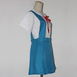 Image 3 - 4 pièces/ensemble dame Halloween Cosplay Asuka Langley Soryu Tokyo Ayanami Rei Halloween Cosplay Costume école uniforme perruque livraison gratuite