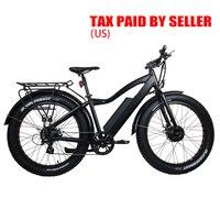 США Канада Прямая доставка eunorau 48V250W + 350 W литиевая батарея электрический Снежный велосипед мощный Электрический Снежный велосипед