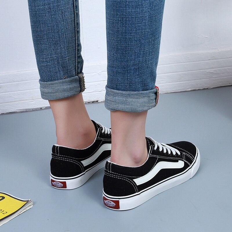 Femmes Dames À 35 black Blue Chaussures Zapatillas Femme 43 Toile Casual Espadrilles Blanc black red Lacets Big White Sneakers Mujer Plus La blue Taille white Tenis x6zEwqMfI