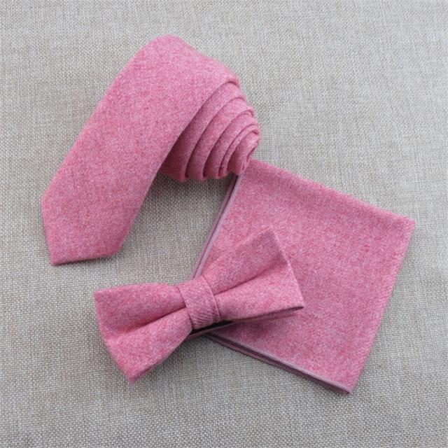 Bowtie Laços dos homens do Casamento negócios e Conjuntos Lenço Gravatás Magro Lã Pescoço Magrinho Gravata Colarinho Senhoras Lenço de Acessórios