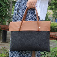 2018 Simple Wool Felt Laptop Handbag For 11 6 12 Inch Macbook Air Soft Notebook Protect