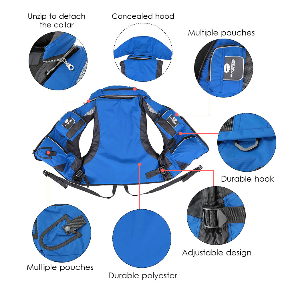 Outdoor Unisex Adult Life Jacket Fishing Safety Life Vest For Water Sports Drifting Boating Sailing Kayak Survival Swimwear