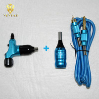New Blue RCA Rotray Swiss Motor Halo2 Tattoo Machine Gun Cartridge Grip Clip Cord For Tattoo Pen Needles Supply HCM04 BE#