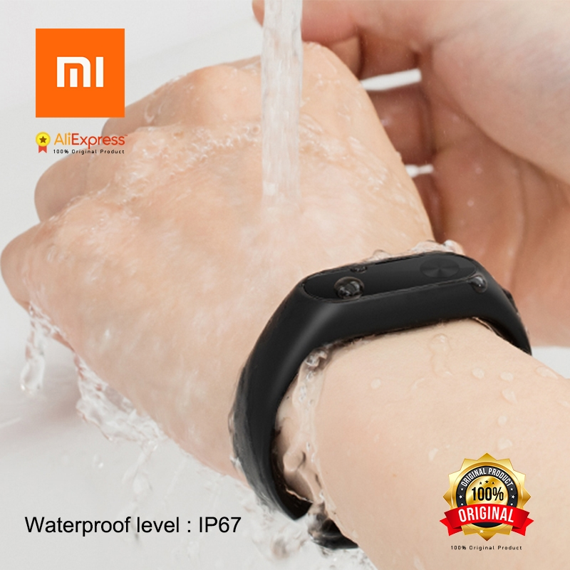 Original Xiaomi Mi Band 2 Miband Band2 Wristband Bracelet with Smart Heart Rate Fitness Tracker Touchpad OLED Strap