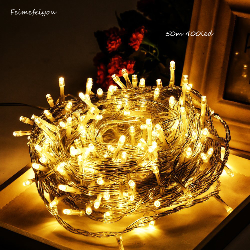 40M 500 Fairy LED String Light Outdoor Waterproof AC220V Chirstmas String Garland For Xmas Wedding Christmas Party Holiday