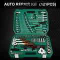 121 шт. Инструменты для ремонта автомобилей механические инструменты набор торцевых гаечных ключей инструменты для автоматического трещотк...