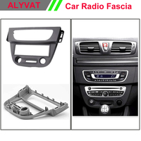 11 152 car stereo radio dash kit radio CD player install mount for RENAULT Megane III 2008+, Fluence 2010+ (Dark Grey) 1 DIN