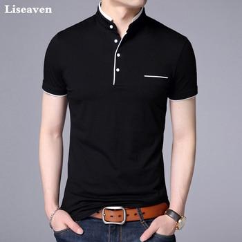 096f71dd576 Camisetas Liseaven de Color sólido para hombre 2019 algodón camiseta de manga  corta Camisetas para Hombre Ropa