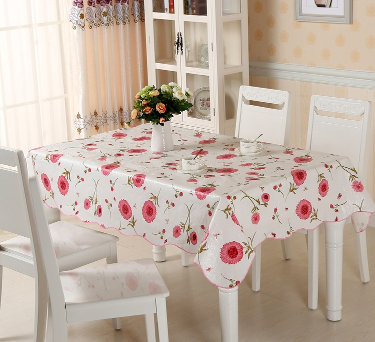 Waterproof Pvc Table Cloth Flowers Oilproof Fl Plastic Covers Toalha De Mesa Anti Hot Coffee Square Tablecloths In From Home Garden