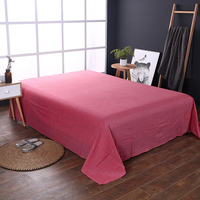 Light Pink Color Bed Cover Cubrecama Bedspread Bedclothes Sheets Single Student Dormitory Sheets 1.8 Meters Double Bed Sheets