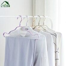 ФОТО 5pc fashion aluminum gold clothes hanger windproof clothing home racks dry hanger aluminum clothes hangers