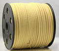 100 Yards 3mm x 1.5mm Flat Faux Suede Korean Velvet Leather Cord String Rope Thread Lace Findings- Yellow Color
