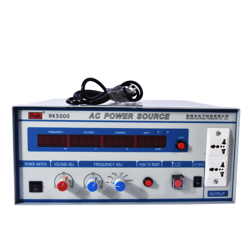 AC Power Source RK5000 Variable frequency power supply Power meter Pressure Hipot tester Resistance Electronics Parameter Audio rk5000 digital ac frequency conversion power supply ac power 500 va frequency conversion power supply frequency