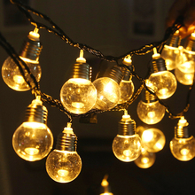 Led Retro Bulbs Lamp 220V 110V EU US Plug 6M String Light LED Clear Ball Home Holiday Wedding Decoration Warm White Garland Lamp