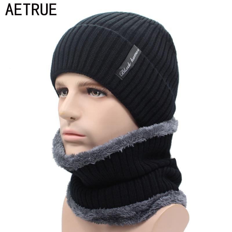 AETRUE Winter Beanies Men Knitted Hat Caps Beany Mask Gorras Bonnet Warm Baggy Winter Hats For Men Women Skullies Beanies Hats 1