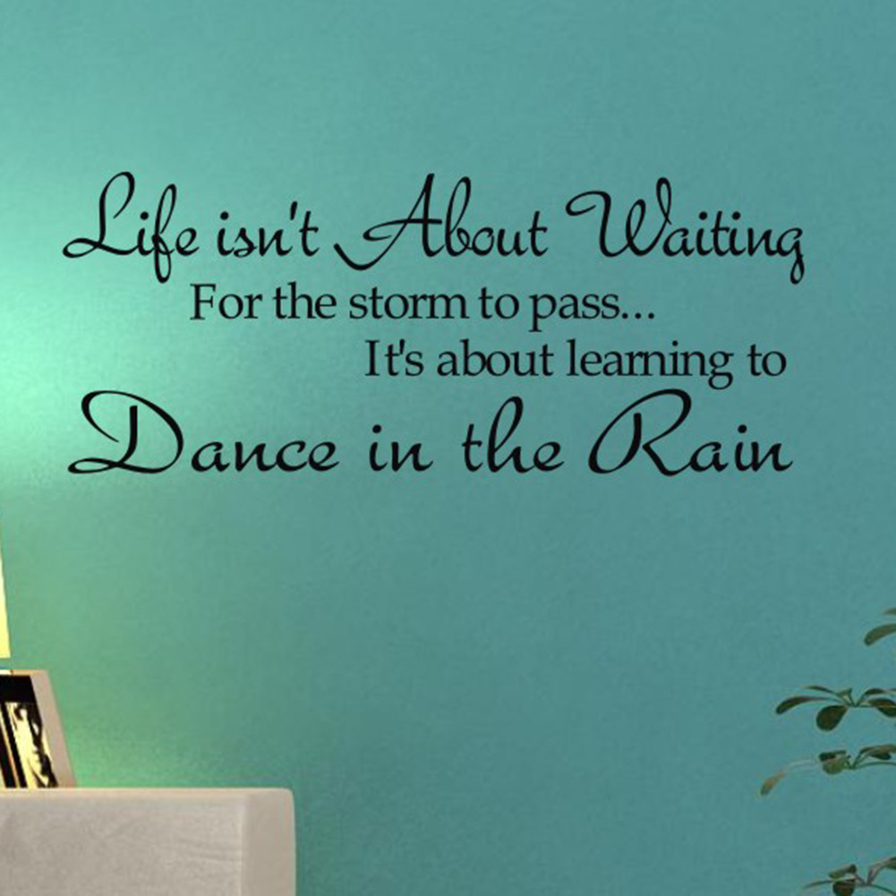 Life Dancing In The Rain Quote Bedroom Furniture Decor Picture  More Detailed Picture About New