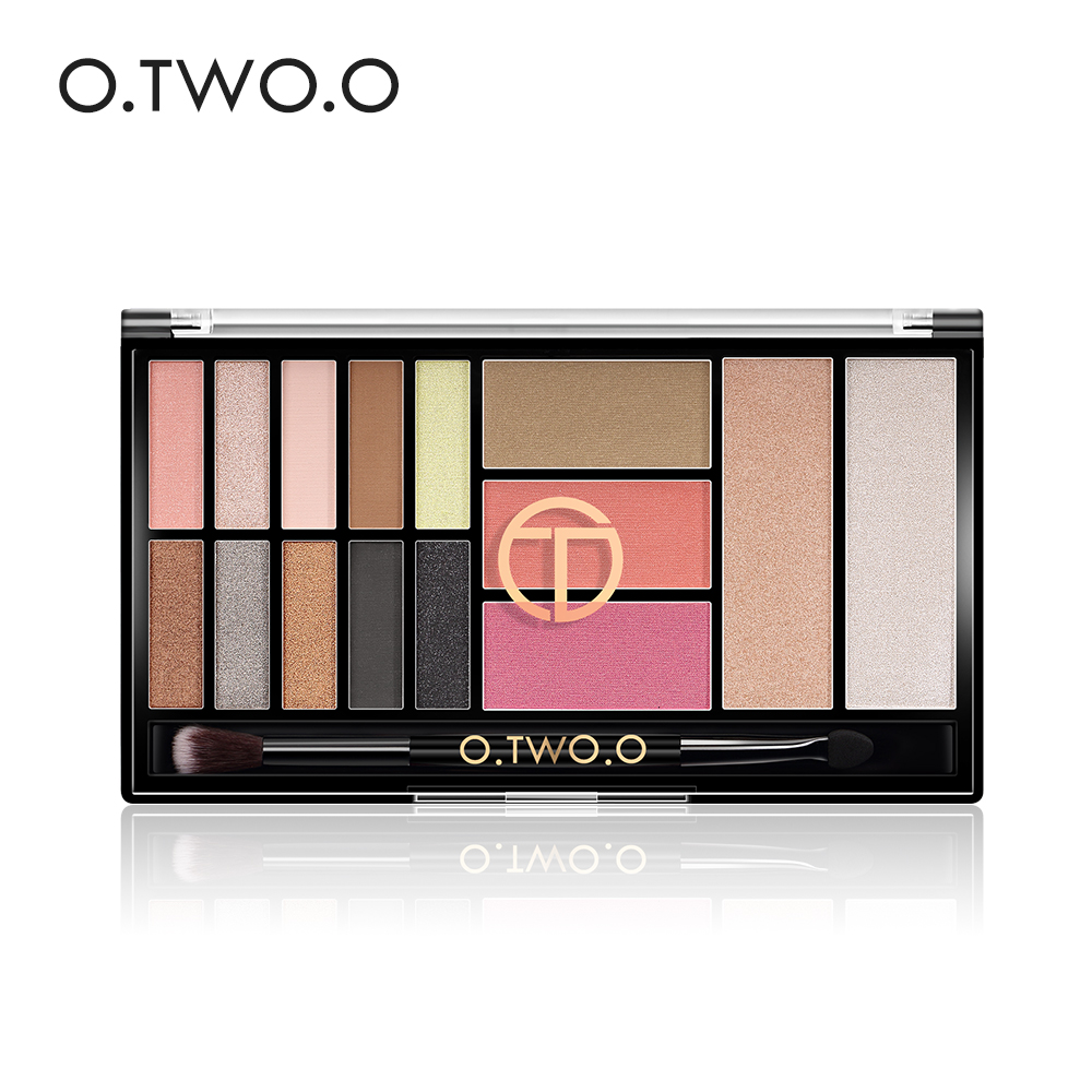 O.TWO.O 15 Full Colors Palet Pembayang Mata Matte Mata Bayangan Palet Glitter Make Up Palet Pembayang Mata Shadow Bogel