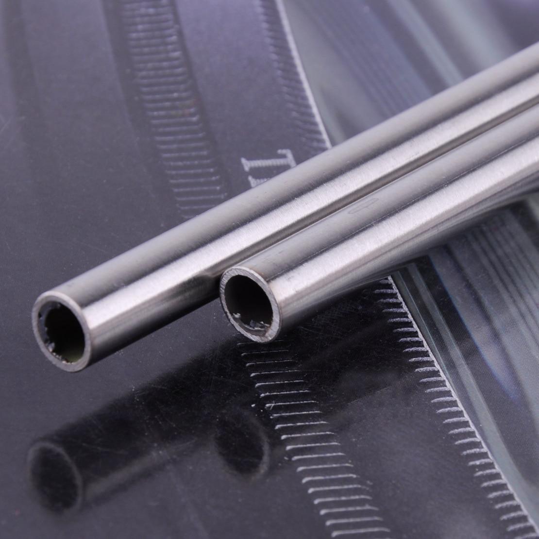Letaosk alta qualidade 2 pçs 304 tubo capilar de aço inoxidável od 10mm id 8mm comprimento 0.5 m 500mm